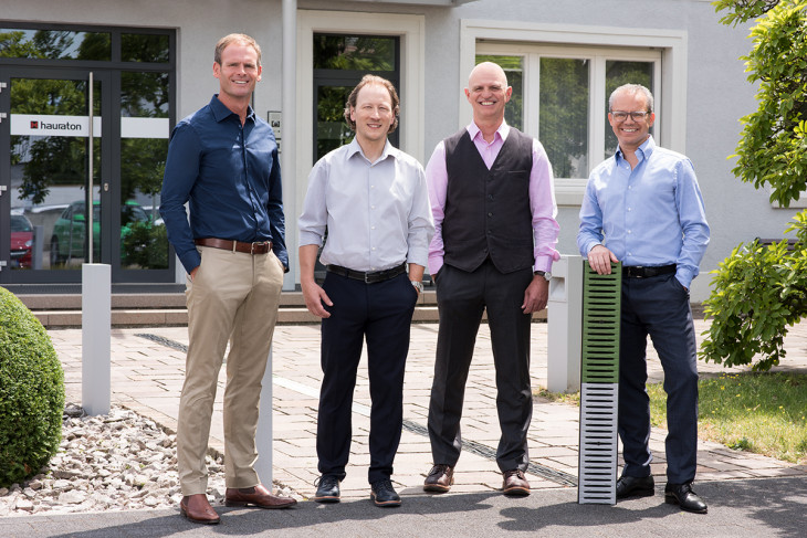 HAURATON Management Board: From left to right: Michael Schenk, Patrick Wieland, Dieter Bastian and Marcus Reuter